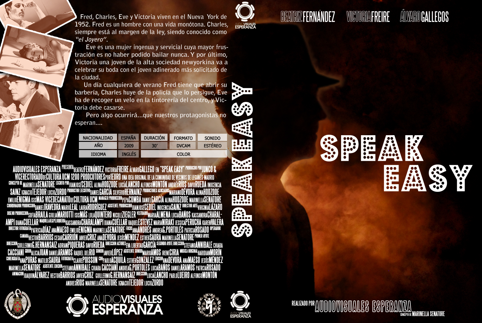Caratula DVD Speak Easy