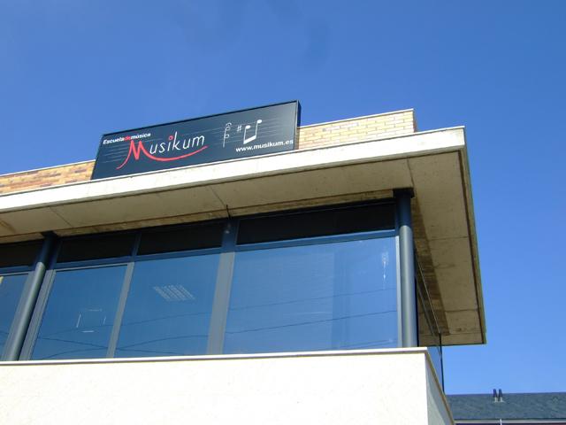 cartel Musikum, escuela de musica